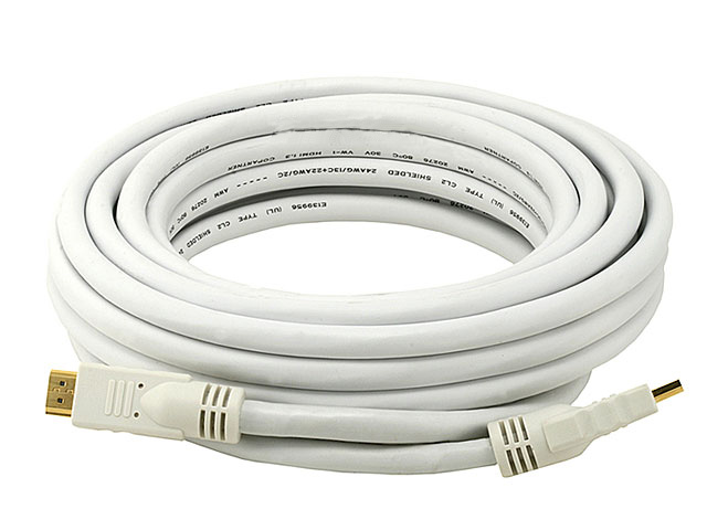 25FT 24AWG CL2 Standard Speed HDMI Cable - White
